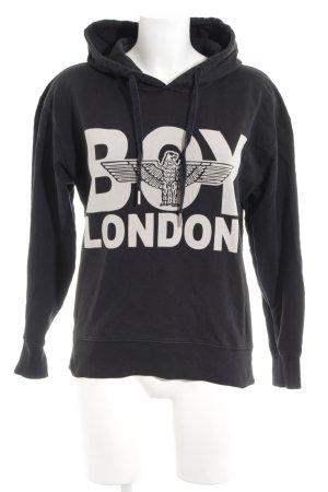 BOY LONDON Kapuzenpullover schwarz Motivdruck Urban-Look
