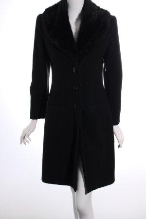 BoYco Wollmantel schwarz klassischer Stil