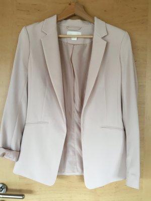 H&M Blazer stile Boyfriend rosa pallido Poliestere