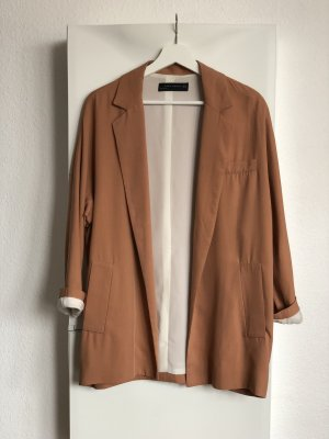 Zara Woman Blazer stile Boyfriend color carne-albicocca