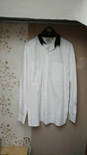Boyfriend-Bluse in Weiß