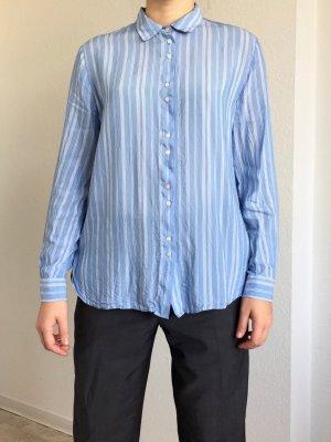 Boyfriend Hemd von H&M in hellblau mit weißen Streifen