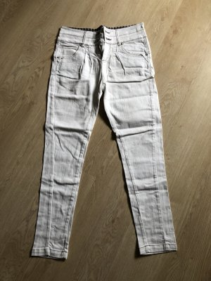 24Colours Pantalón boyfriend blanco