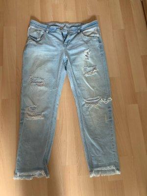 Zara Basic Jeans boyfriend blu pallido-azzurro