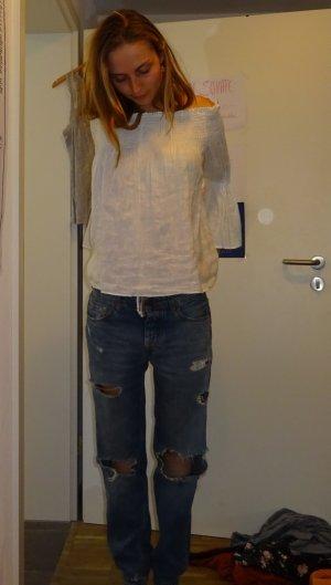 Pull & Bear Pantalone boyfriend blu