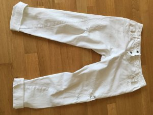Boyfriend Trousers white cotton