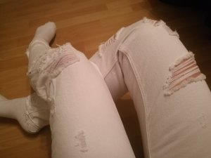 H&M Jeans boyfriend blanc
