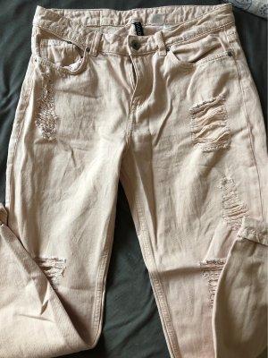 H&M Pantalone boyfriend rosa pallido-color carne