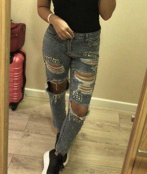 Jeans boyfriend grigio ardesia