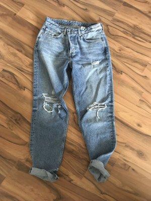 H&M Pantalon boyfriend bleu
