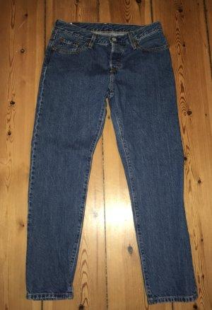 Levi's Boyfriend Trousers dark blue cotton