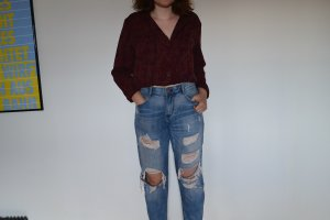 Amisu Boyfriend Jeans azure-blue cotton