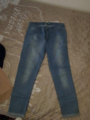 Pantalone boyfriend grigio ardesia-blu pallido