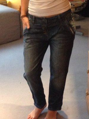Boyfriend Jeans - dunkelblau - 1 mal getragen