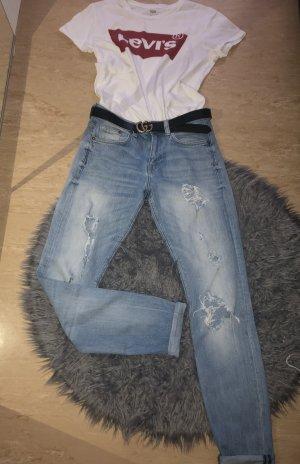 Authentic Jeans boyfriend bleu azur