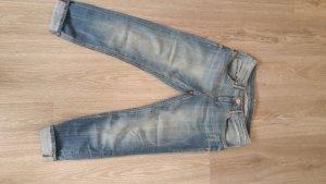 Boyfriend-Jeans, Gr. 36, hellblau-used, H&M