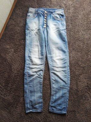 Boyfriend Trousers light blue