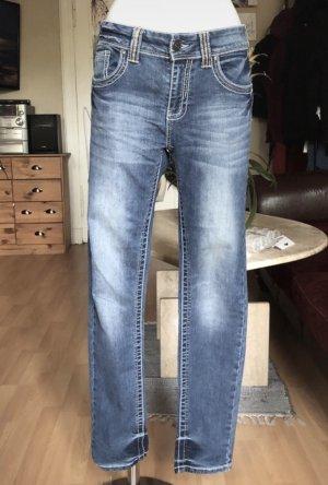 Boyfriend Jeans helle Waschung S/M