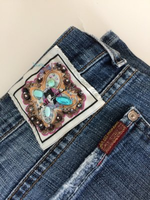 Boyfriend Jeans im used Look von 7 for all mankind