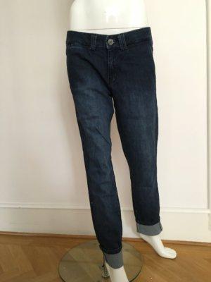 Boyfriend Jeans in dunkler Waschung