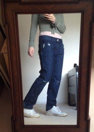 Boyfriend Jeans Mango Destroyed Zerschlissen