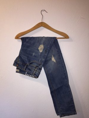 Boyfriend-Jeans mit Auswaschungen