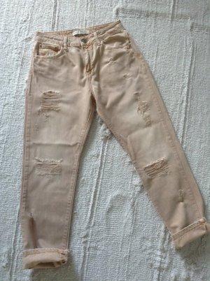 Boyfriend-Jeans / Rose-nude-Ton / Gr. 34/36 / NEU