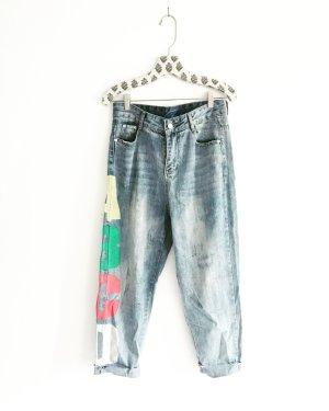 boyfriend jeans / vintage / highwaist / oversized / boho / festivallook / denim / blue jeans / overall