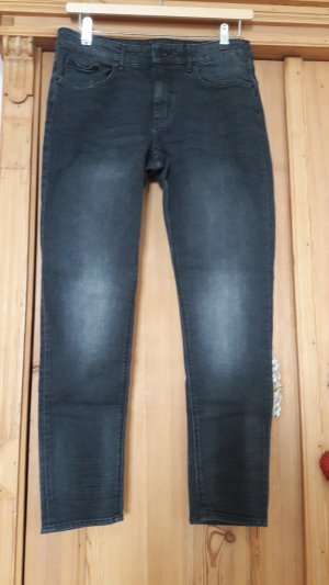 H&M Boyfriend Jeans black cotton