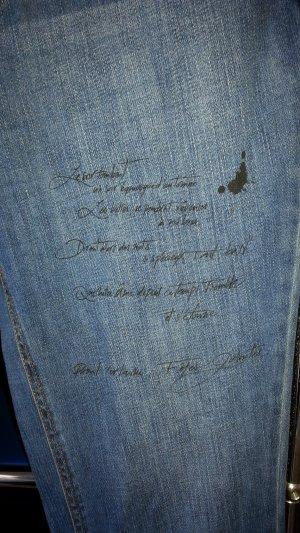 Boyfriend Jeans von Promod !! Designerdition mit franz. Text !! Anschauen!! Gr. 40