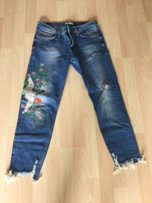 Boyfriend Jeans Zara in blau