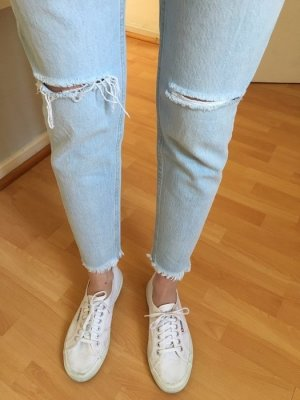 Boyfriend Jeans Zara Mom Jeans shredded destroyed Gr 36