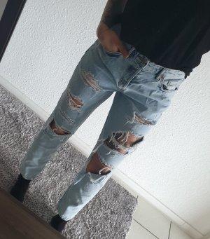 Pantalone boyfriend azzurro