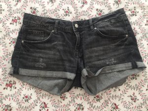 H&M Pantalón corto de tela vaquera negro