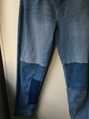 H&M Boyfriend Trousers azure-dark blue