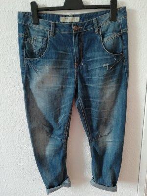 FB Sister Boyfriend Trousers dark blue cotton