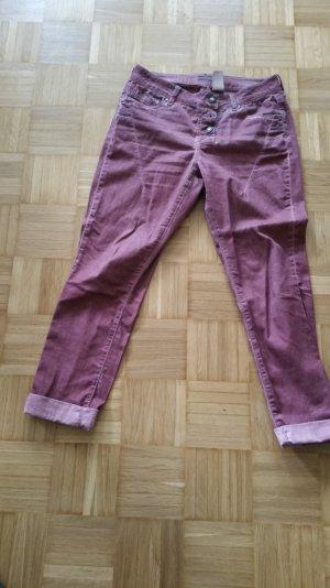 Mandarin Pantalone boyfriend viola-grigio-lilla