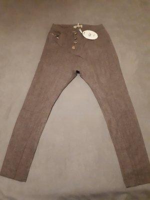 Boyfriend Trousers grey brown