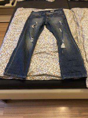 H&M Pantalone boyfriend blu