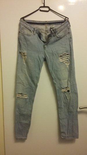 H&M Boyfriend Trousers pale blue