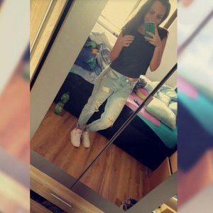 Boyfriend Trousers white-blue