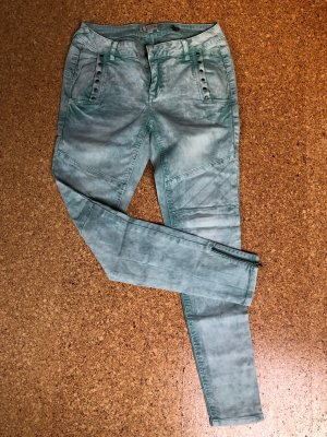 Comma Boyfriend jeans turkoois