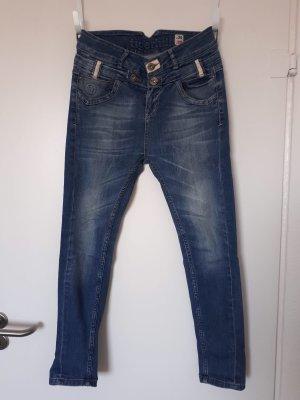 Tigerhill Jeans boyfriend bleu tissu mixte