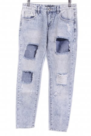 Jeans boyfriend blu pallido stile casual