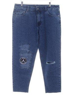 Jeans boyfriend blu stile povero