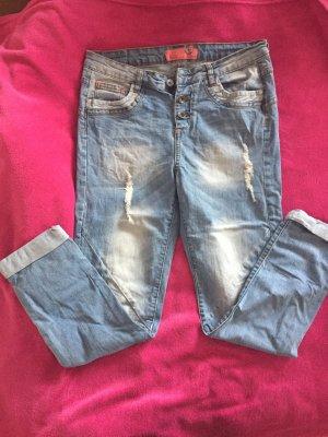 Stitch & Soul Boyfriend jeans azuur