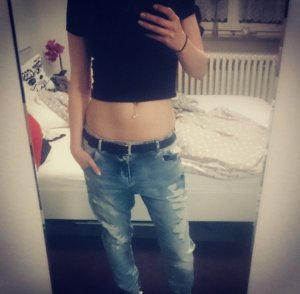 Boyfriendjeans in blau