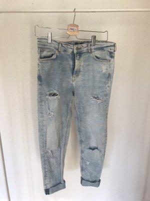 H&M Jeans boyfriend blu pallido-grigio ardesia