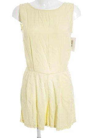 BoYi Jumpsuit blassgelb-gelb schlichter Stil