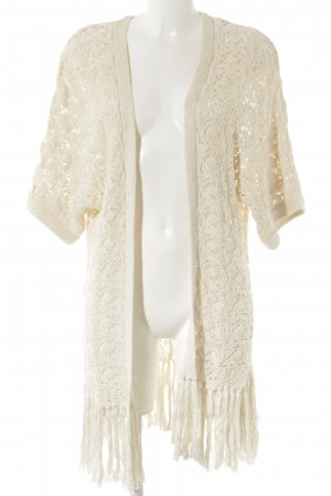 Boysen's Cardigan all'uncinetto crema Stile Boho